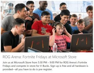 Microsoft's Fortnite Fridays to build customer communities to build on your experiential retail proposition