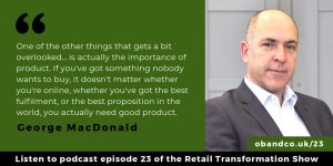 George MacDonald quote - the importance of product