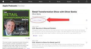 Review the Retail Transformation Show in iTunes