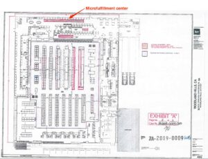 Floorplan reportedly showing a micro fulfilment centre
